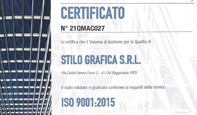 You are currently viewing AZIENDA CERTIFICATA ISO 9001:2015